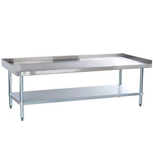 Regency X Gauge Stainless Steel Equipment Stand - 16 gauge stainless steel table