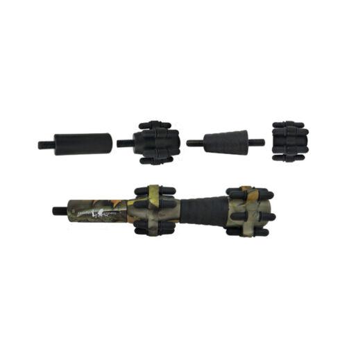 Compound Bow Arrow Shooting Stabilizer Rubber Balance Equalizing Bar Adjust Camo