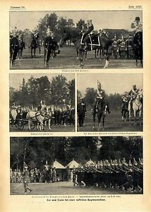 Russland Unparteiisch Der Russische Zar & Zarin Bei Der Pawlowffschen Regiments-feier C.1906 Strukturelle Behinderungen Militaria