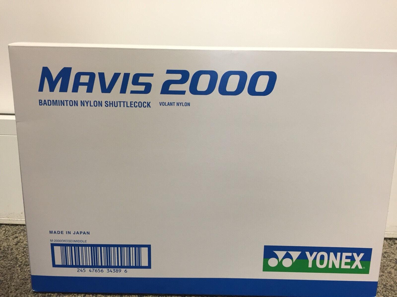 Yonex Mavis 2000 Nylon Plastik Federball Badmintonball Farbe Farbe Farbe weiß blau -NEU- 764ce7