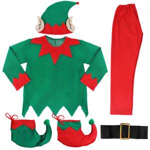 ADULTS UNISEX ELF COSTUME CHRISTMAS SANTAS HELPER XMAS MENS LADIES FANCY DRESS