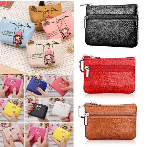 Damen Mini Geldbörse Börse Portemonnaie Portmonee Karten Münzhalter Brieftasche