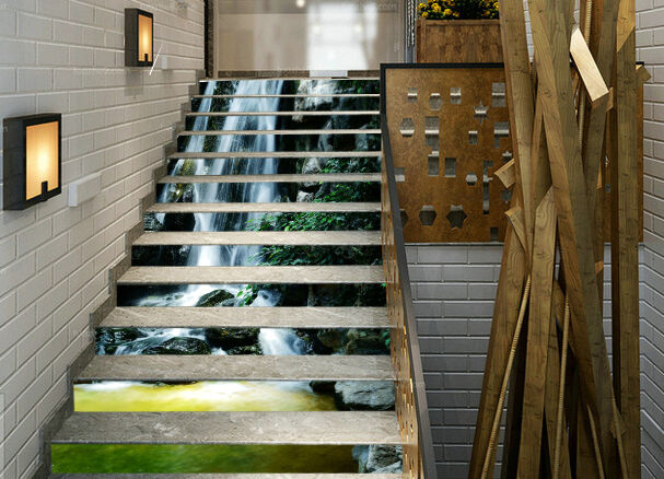 3D Boulder water 53 Stair Risers Decoration Photo Mural Vinyl Decal Wallpaper AU