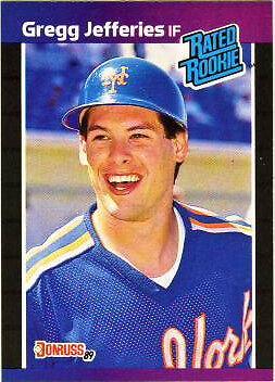 1989 Donruss Gregg Jefferies 35 Baseball Card