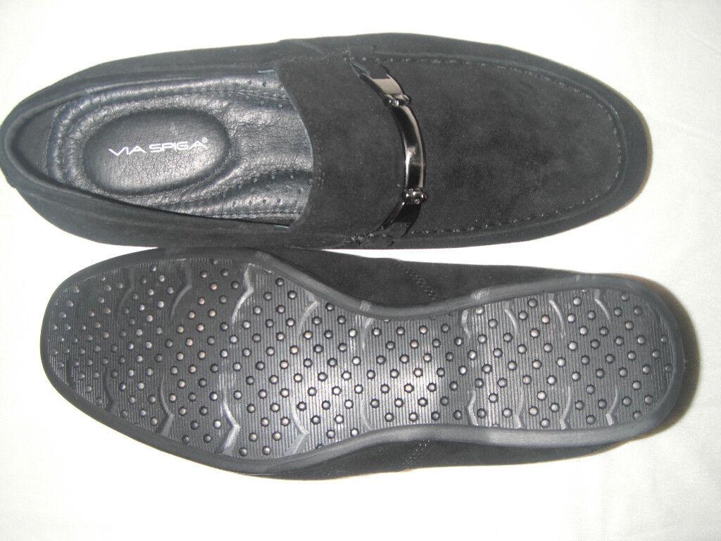 NIB Via Spiga Newark Men Suede Slip-On shoes sz 7