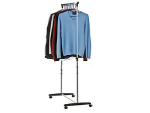 NEW-SINGLE-CLOTHES-TIDY-HANGING-RAIL-STORAGE-ON-CASTORS
