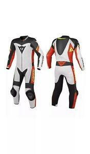 Black-White-Brand-NEW-Motorbike-Armour-Protection-Racing-1-amp-2-Piece-Leather-Suit