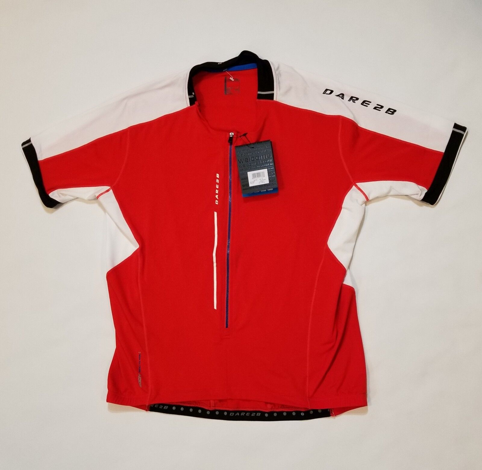 DARE2B Men's Astir Cycling Jersey DMT134 Fiery Red Size XXL MSRP  70