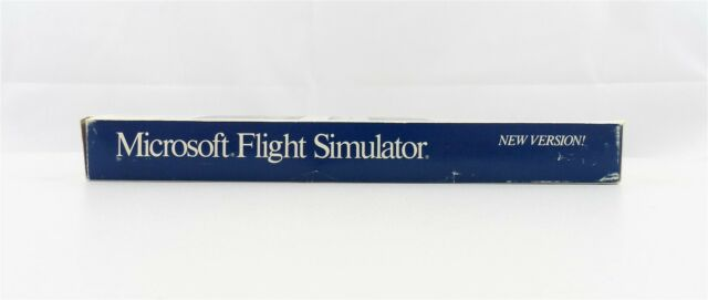 "Microsoft Flight Simulator 4.0 5.25"" Disks Complete in Box 1989"