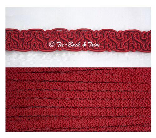 5m 5 Metres Silky Braid Gimp 15mm Trimmings Upholstery Furnishing Edging Trim