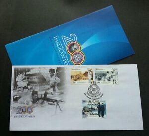 SJ-200-Years-Police-Force-Malaysia-2007-Uniform-Army-stamp-FDC