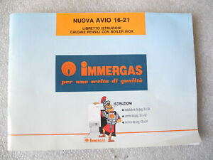 Manual Immergas New Avio 16-21 Booklet Instructions Boiler Wall With Boiler