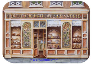 4-French-Art-Paris-BOULANGERIE-PATISSERIE-Bakery-Bread-Pastry-Sweets-Placemat