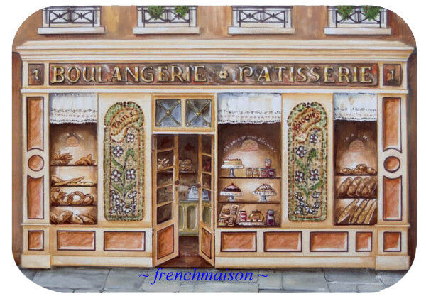 4 French Art Paris BOULANGERIE PATISSERIE Bakery Bread Pastry Sweets Placemat