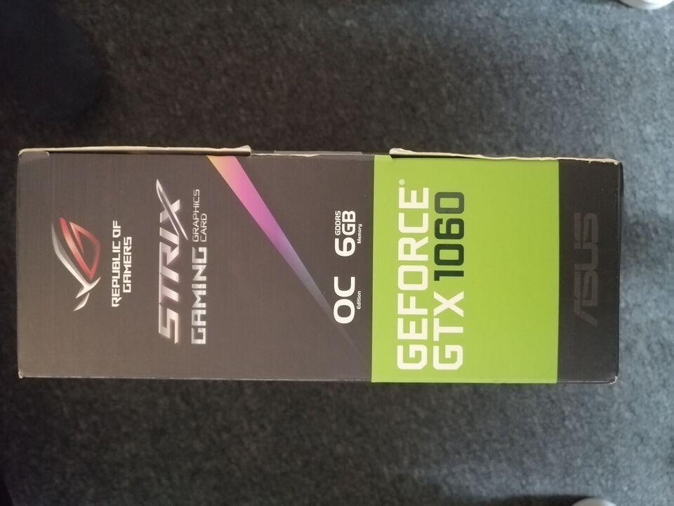 Gtx 1060 6GB OC Rog strix ASUS ROG, 6GB GB RAM, Perfekt