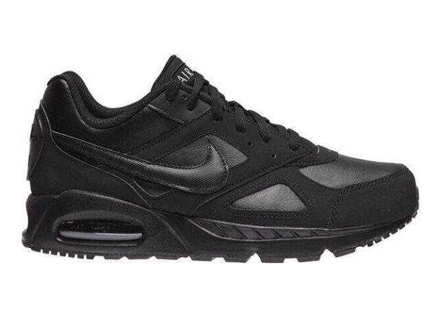 Nike Air Max Ivo Ltr Triple Black Mens Trainers New RRP £100.00 Box Has No Lid