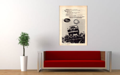 """1963 LAND ROVER SERIES IIA 4WD AD PRINT WALL POSTER PICTURE 33.1""""x23.4"""""""