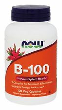 NOW Foods B-100 Caps, 100 Capsules