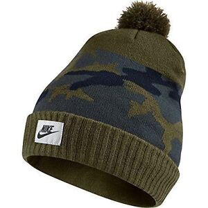 e0675a9f20a NIKE BEANIE HAT Adult UNISEX MEN WOMEN New KNIT CAP Green Gray CAMO ...