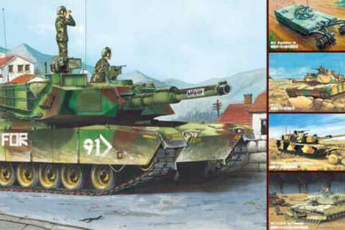 01535 Trumpeter 1 35 Model US M1A1 A2 Abrams Main Battle Tank(5 in 1) Panzer Kit