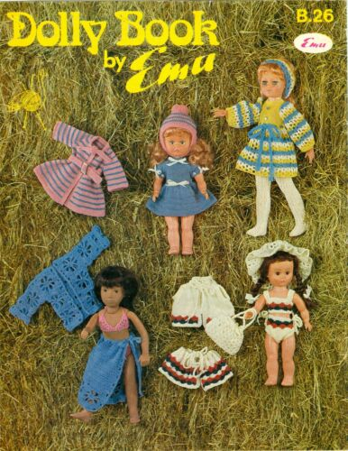 Doll Clothes Crochet Knitting Pattern Book To Fit 11 to 18 Inch Dolls A