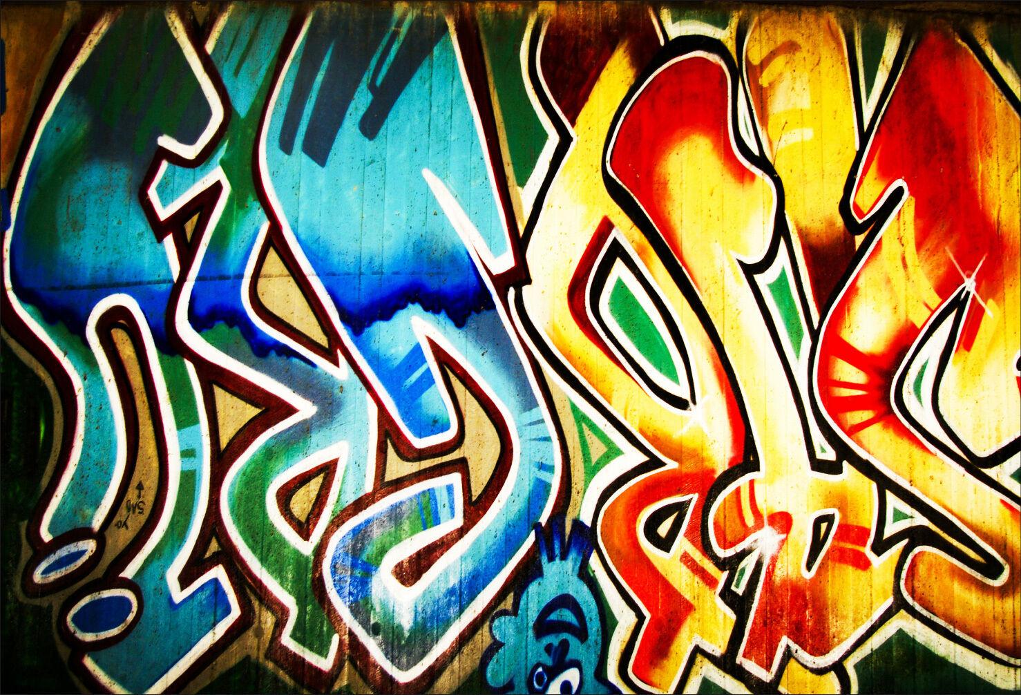 Adesivi Murale Adesivo Decocrazione  Graffiti Tag - Ref 1497 (16 Dimensioni)