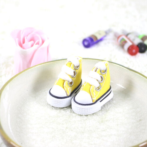 5cm Canvas Lace Up Sneakers Shoes For  /& Boy Dolls plfES