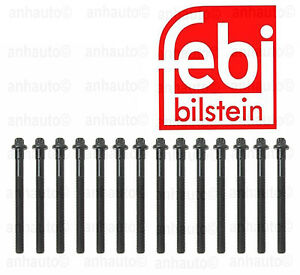BMW E39 E46 E83 X3 X5 1997-2006 Cylinder Head Bolt 14 Bolts Per Set Febi 12033