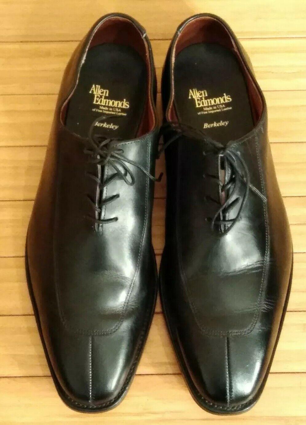 Allen Edmonds Berkeley. Split Toe noir chaussures en cuir. Homme 11.5 D. très bon