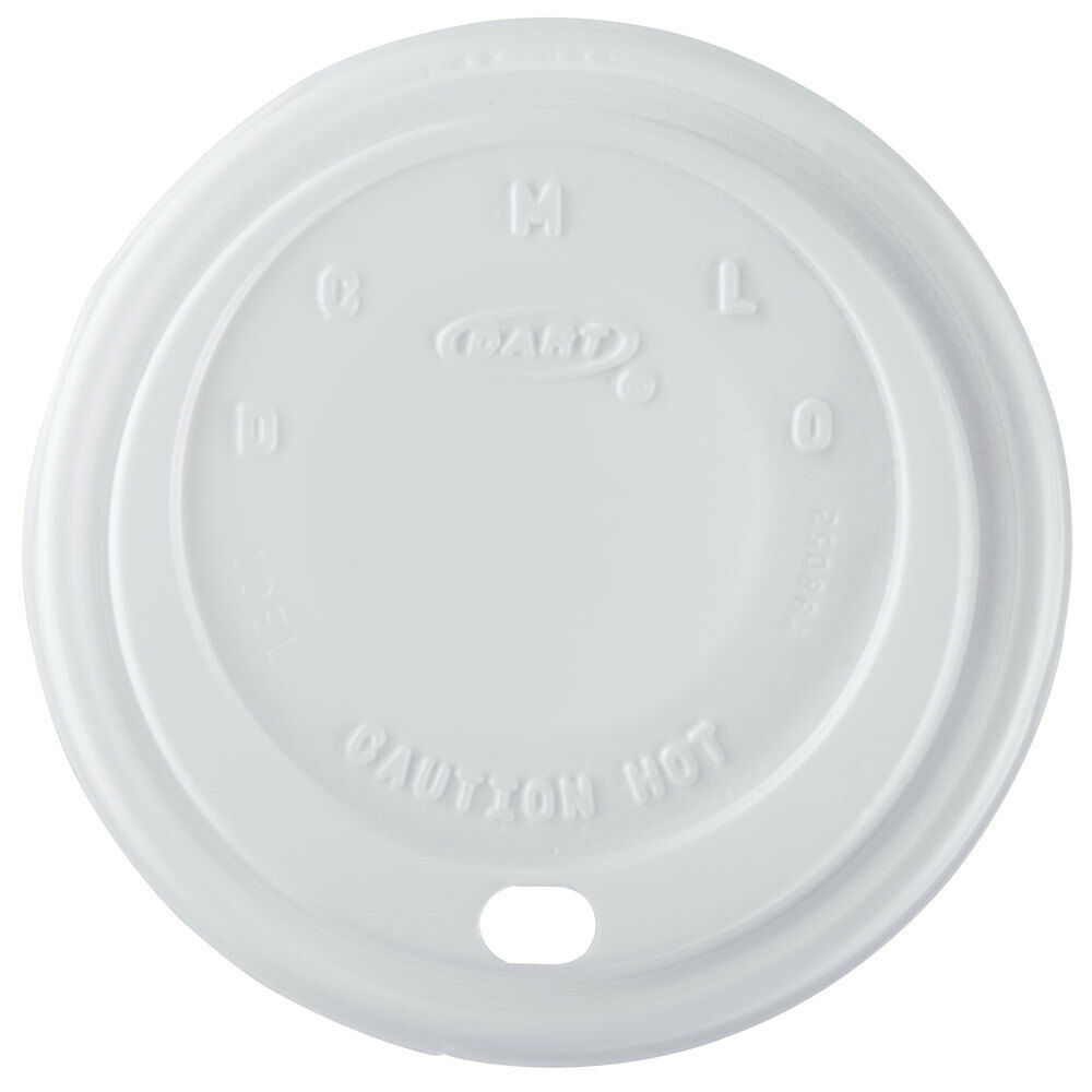 1000 x Dart Weiß Sip Lids 10oz Cappuccino For Disposable Foam Polystyrene Cups