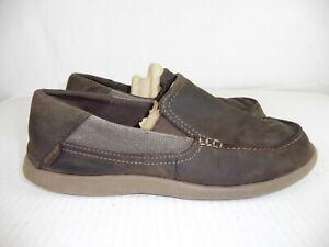 9dceb9232ae Crocs Men's Sz 10 Santa Cruz 2 Luxe Leather Slip On Loafer, Espresso ...