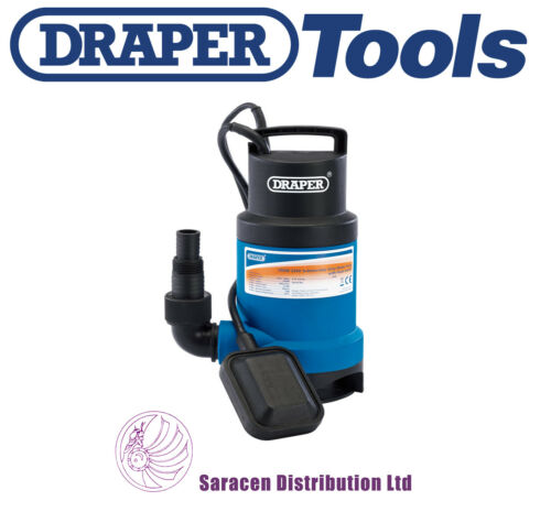 550W 61621 DRAPER 166L//MIN SUBMERSIBLE DIRTY WATER PUMP WITH FLOAT SWITCH