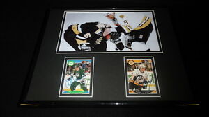 Cam-Neely-amp-Ulf-Samuelsson-Dual-Signed-Framed-11x14-Fight-Photo-Display-Bruins