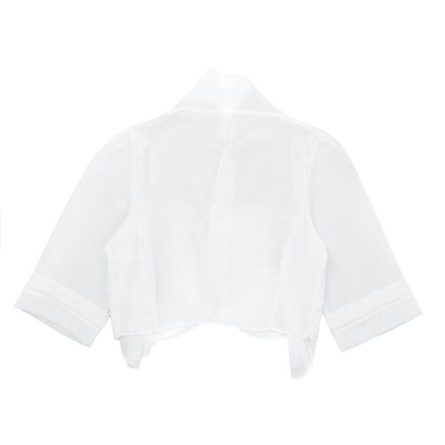 #M-4XL Women Chiffon Shrug Bolero Jacket Cardigan Crop Top Formal Evening Party