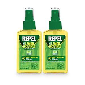 2-PACK-Repel-Lemon-Eucalyptus-Natural-Insect-Mosquito-Repellent-4oz-Pump-Spray