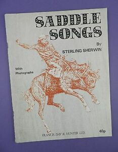 Saddle Songs by Sterling Sherwin  Sheet MusicSongbook - Coleford, United Kingdom - Saddle Songs by Sterling Sherwin  Sheet MusicSongbook - Coleford, United Kingdom