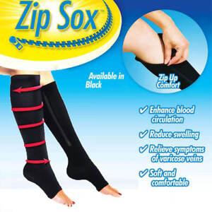 Knee-High-Socks-Compression-Leg-Sleeves-Toeless-Ankle-Support-Arthritis-Socks