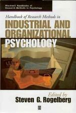 Handbook of Research Methods in Industrial and Organizational Psychology by