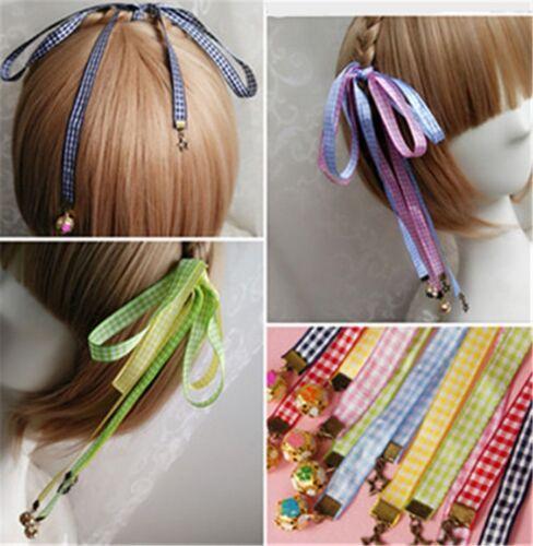 1pc Lolita Girls Hair Ribbons Small Sakura Bell Lady Hair Accessories Harajuku