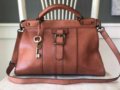 FOSSIL Vintage Revival Satchel RUST Leather Satche