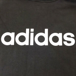 Adidas NWT Mens Black With White Stripes Long Sleeve Pullover Hoodie Size 2XL