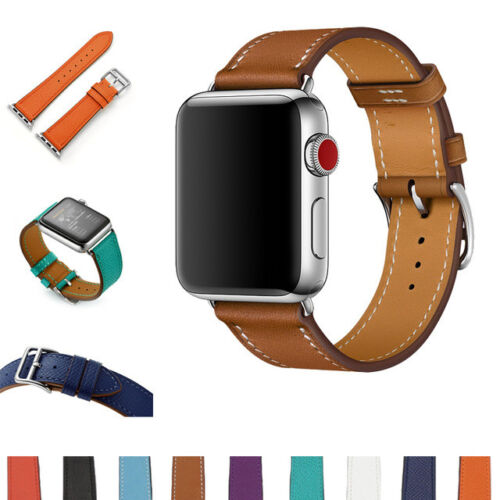 Genuine Leather Strap Band For Apple Watch Series 5 4 3 2 1