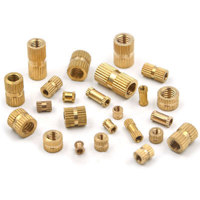 Size: M3X4X4 Nuts 100Pcs M3 Injection Molding Nut Brass Insert Knurled Nuts Knurling Tool Embedded Parts Fastener