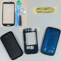 Black Replacement Housing Case + Screen Glass Tools For Samsung Galaxy S3 i9300