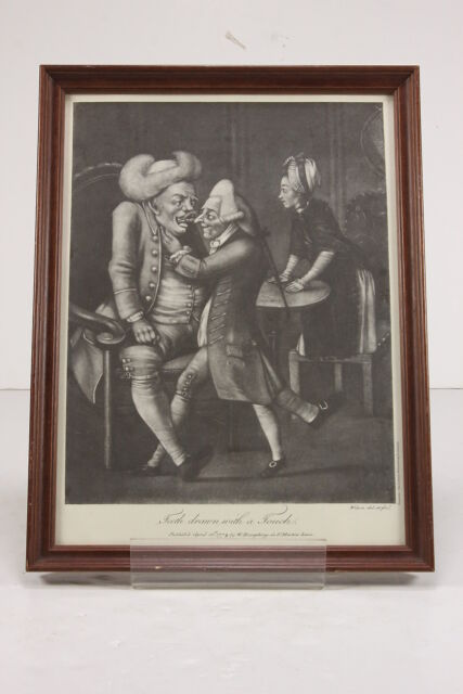 'Teeth Drawn With A Touch' Framed Reproduction Of 1773 Dental Dentistry Print