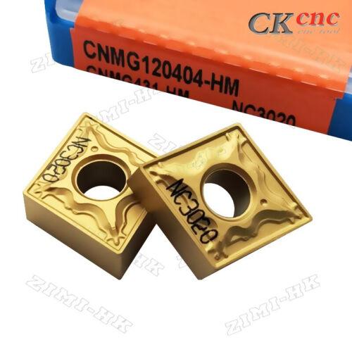HM turning blade CNMG 12 04 50pcs CNMG120404-HM NC3020 carbide inserts CNMG431