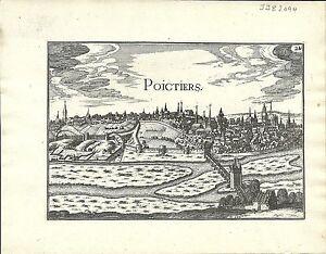 Antique-map-Poictiers-Poitiers