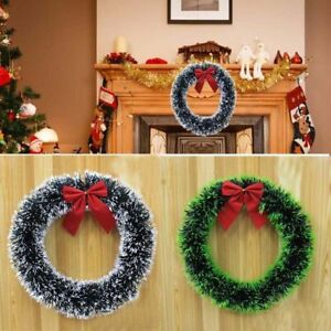 1Pcs-Christmas-Pine-Snow-Garland-Wreath-Xmas-Hanging-Party-Ornament-Decoration
