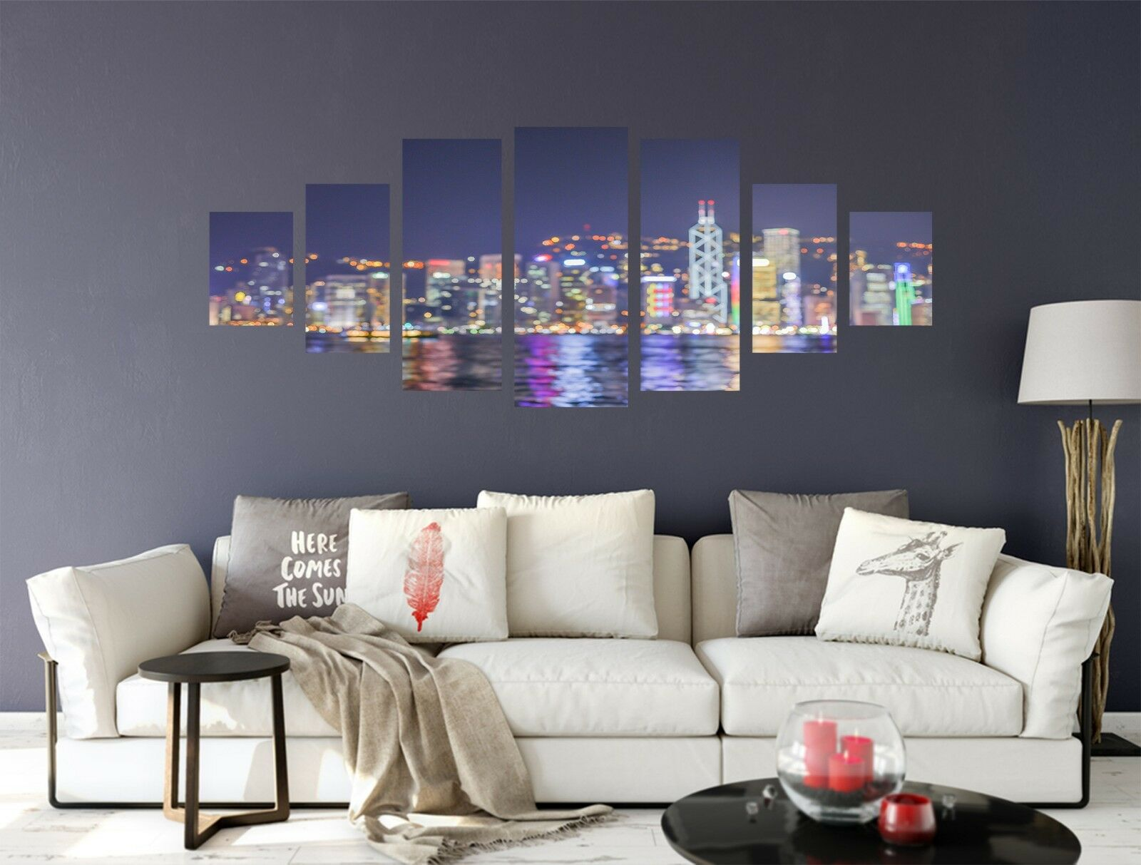 3D Night View City 77 Unframed Print Wall Paper Decal Wall Deco Indoor AJ Jenny