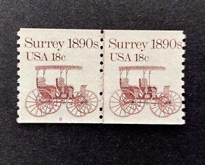 US Stamps, Scott #1907 18 C 1983 Joint ligne Paire #9 très fine/XF M/jamais à charnière. Bureau de Poste Fresh
